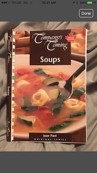 Company's Coming Soups cookbook