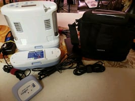 Inogen One G3 oxygen concentrator. 2 dbl batteries and accessories