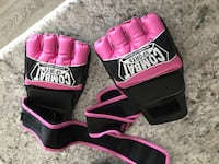 pair of purple-and-black Everlast boxing gloves Sherwood No. 159, S4M 0E8