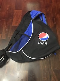 black and blue Pepsi bag