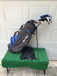 Complete 14 Club Golf Set with Stand Bag, Stiff Flex Houston, 77064