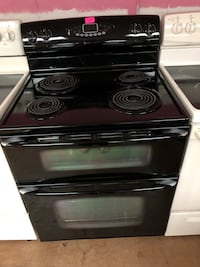 Maytag black electric coil range double oven stove  Woodbridge, 22191