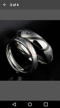Stainless steel HIS/HERS wedding bands. Brand new!
