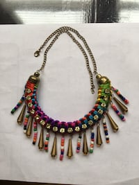 multi-color collar necklace