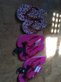 3 pairs of new with tags girls size Lg 3-4 flip flops Destin, 32541