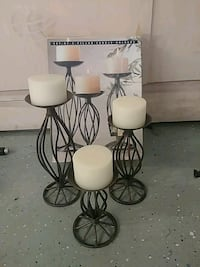 Set of 3 pillar candle holders with candles Stockton, 95207