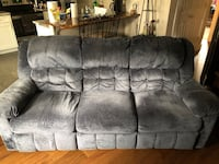 Blue couch 3-seat sofa with recliners on either end Castle Rock, 80104