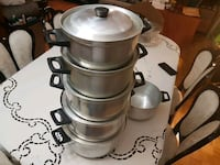 5 piece aluminum pots set North York, M2N
