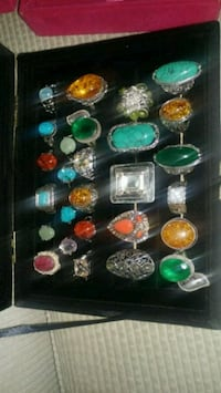 assorted-color cabochon ring lot Montreal, H8T