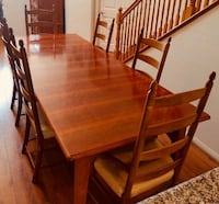 Thomasville wooden table with six chairs dining set Los Angeles, 90035