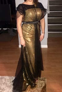 Gold sequins with black overlay dress Calgary, T1Y 4C9