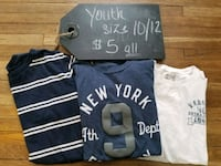three blue and white crew-neck t-shirts Mansfield, 44905