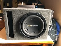 "Must hear 12""Pioneer Sub in box and 2 amps  Schenectady, 12303"