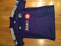 Blue and white adidas soccer jersey impact Dorval
