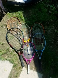 two red and blue tennis rackets Bowie, 20715
