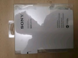 white Sony headphone