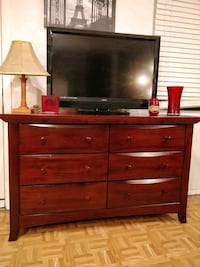 Solid wood MUNIRE long dresser with big 6 drawers  Annandale, 22003