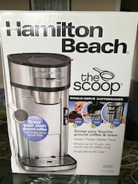 silver and black Hamilton beach coffee maker box Oak Ridge, 27310