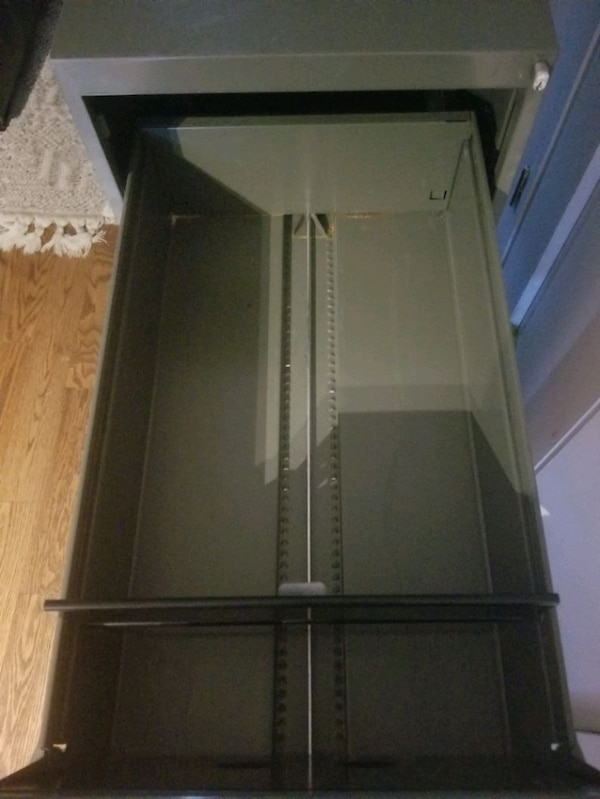 gray metal 3 drawer filing cabinet 3