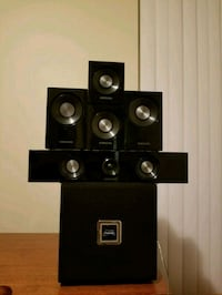 black and gray home theater system 3740 km
