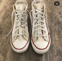 Pair of white converse all star high-top sneakers Sacramento, 95829