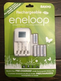 Eneloop batteries and charger.