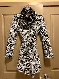 BRAND NEW! Lil' Girls Zebra Print Peacoat!