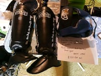 pair of black Fairtex shin guard Calgary, T2X 1E4