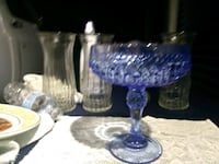 Beautiful blue glass candy dish Perry, 48872