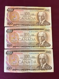 1975 Canadian Old bills Okotoks, T1S 1J9