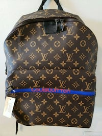 brown Louis Vuitton style leather backpack Royal Palm Beach, 33411