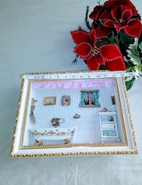 Beautiful Wooden Frame With Illustration .. Frederick