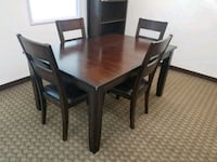 Dark brown dining room table + 4 chairs Huntington Beach, 92649