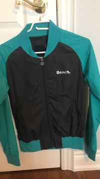 green and black The North Face zip-up jacket Mississauga, L5W 1T7