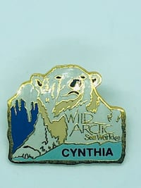 WILD ARTIC SEA WORLD POLAR BEARS CYNTHIA NAME TAG TRAVEL PIN