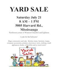 !!!YARD SALE in MISSISSAUGA!!! Mississauga, L5M 0W7