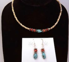 Authentic Navajo earrings and necklace!