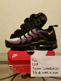 "Size 10 Nike Air Vapormax Plus ""Black Volt""!!!! Annandale, 22003"