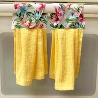 Two (2) tropical floral kitchen towels - yellow Tampa, 33612