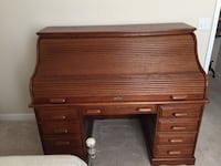 Brand New - Large Brown wooden roll-top desk Gastonia, 28052