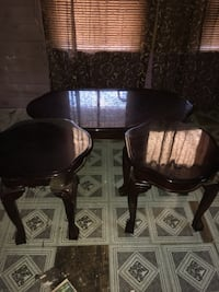 two brown wooden framed padded chairs Walterboro, 29488