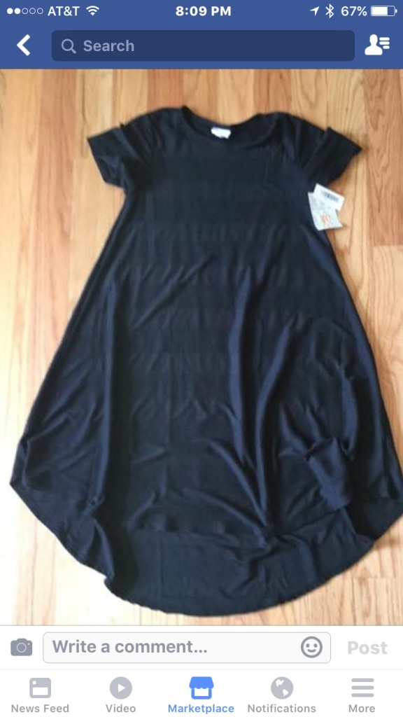 Brand new with tags black lularoe xs carly