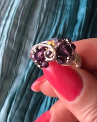 Ring, artisan, Sawarzki crystals Virginia Beach