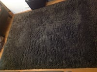 "Black fluffy rug 6"" by 8"" approximate Edison, 08817"