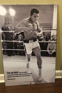 Muhammad Ali Wood Print with hanging cord New York, 10029