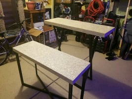 Staging tables from pier 1, 2 tables, both can be made short or tall