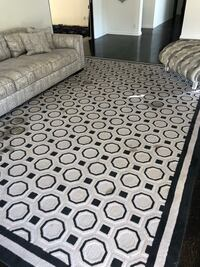 gray and black floral area rug Glendale, 91203