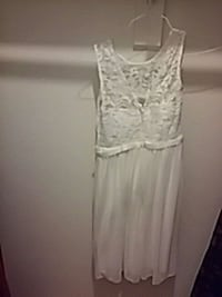 Flower girl knee high dress laces top ivory Gaithersburg, 20878