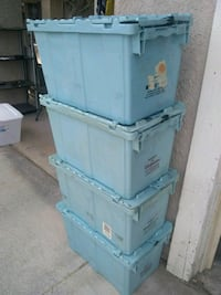 4 stackable storage crates Las Vegas, 89142