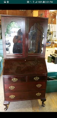 brown wooden cabinet with mirror 08094, 08094